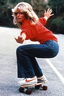 Farrah Fawcett Skateboarding Charlie's Angels TV Poster 1970's 18x24 Poster