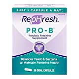 RepHresh Pro-B Probiotic Feminine Supplement, 30-Count Capsules (Pack of 2)