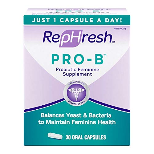 RepHresh Pro-B Probiotic Feminine Supplement, 30-Count Capsules (Pack of 2)