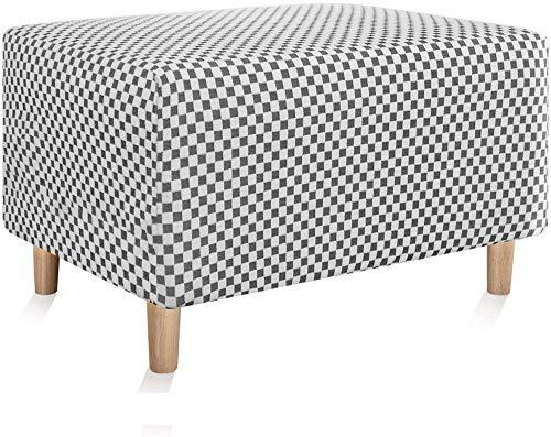 YUNZHONG Slipcovers - Protector de reposapiés rectangular elástico para niños, diseño de jacquard, suave, antideslizante, lavable, protector de muebles para niños, talla XL, color blanco