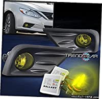 16-18 ALTIMA FOR BUMPER DRIVING FOG LIGHT LAMP YELLOW CLEAR LENS W / 3K HID + SW