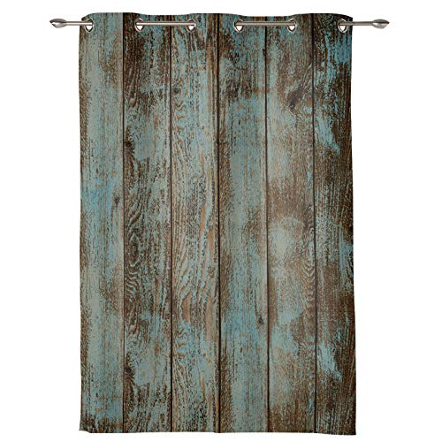 Big buy store Vintage Rustic Knotty Darkening Blackout Window Curtains 72 inch Length Grommet Blocking Treatments Drapes Thermal Insulated Panel for Bedroom Living Room 52 inch Wide Retro Wood