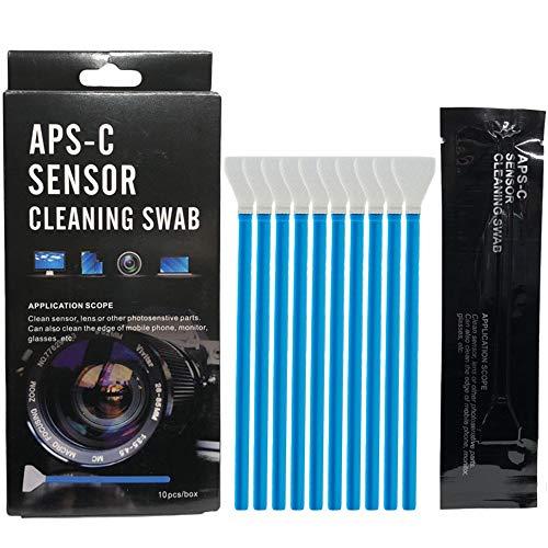センサークリーニング スワブ [10本入り] APS-Cセンサー用 カメラクリーニング 綿棒 清掃用品 一眼レフ ミラーレスカメラ カメラ クリーニング 掃除 メンテナンス