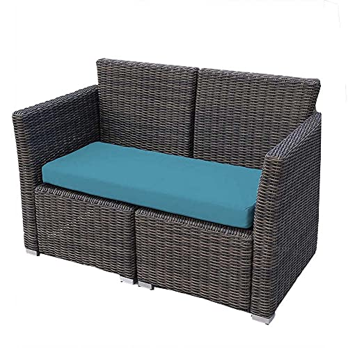 FYUN Cojín de banco de 2 plazas de 3 plazas,Cojín rectangular de banco de algodón, cojín suave y grueso para banco de jardín, columpio de jardín de palets, sillas de comedor