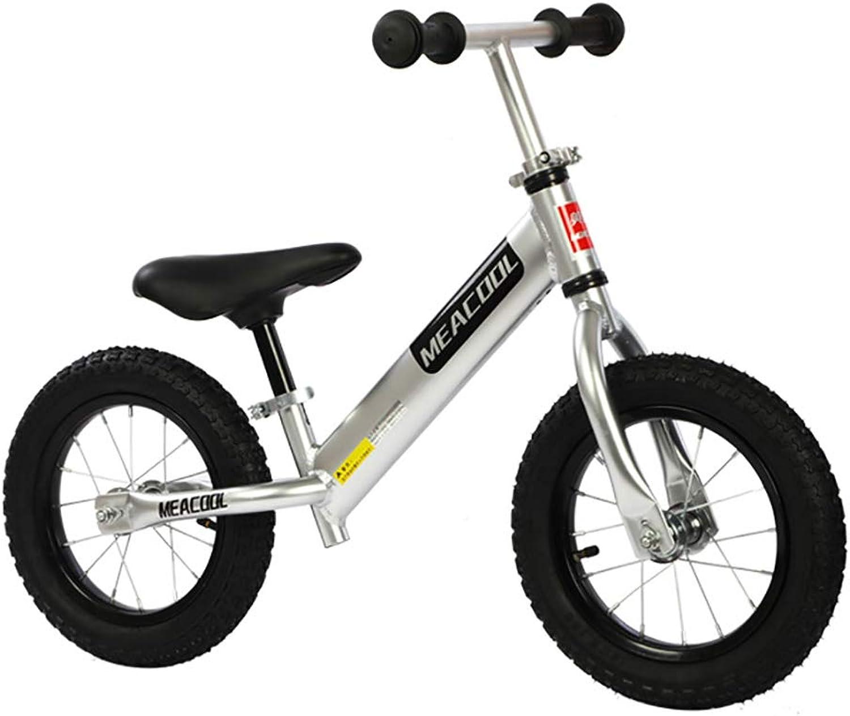 Ahorre 35% - 70% de descuento FJ-MC 12  Bicicleta de de de Equilibrio, con Manillar y Asiento Ajustables, Sin Pedal Bicicleta de Entrenamiento para Caminar, para Niños de 2 a 6 años y Niños pequeños,plata  descuento online