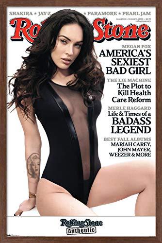 Trends International Rolling Stone Magazine - Megan Fox 09 Wall Poster, 22.375' x 34', Mahogany Framed Version