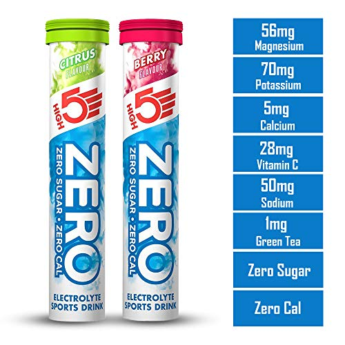 High5 Zero Electrolyte Sports Drink Tube of 20 tabs (1 x Citrus + 1 x Berry)