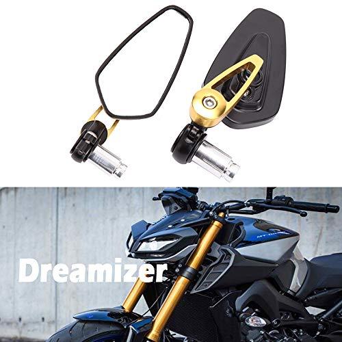 Dreamizer Specchietti Posteriore Moto 8mm 10mm Moto Specchietti Laterali con 22mm Morsetto Manubrio per Street Bike ATV Quad Cruiser Bike
