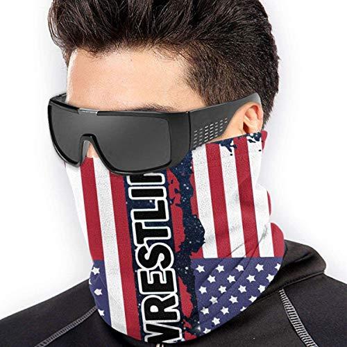 NA USA Flagge Wrestling Mikrofaser nahtlos Winddicht Bandana & Gesichtsmaske & Halswärmer Gaiter Shield – für Unisex