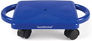 hand2mind Plastic Scooter Board with Safety Handles for Physical Education Class or Home Use, Blue