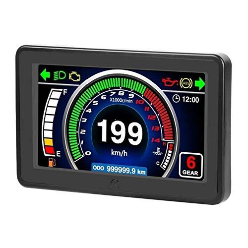 Odómetro ABS Medidor LCD impermeable práctico para 1/2/4 cilindros para motocicleta
