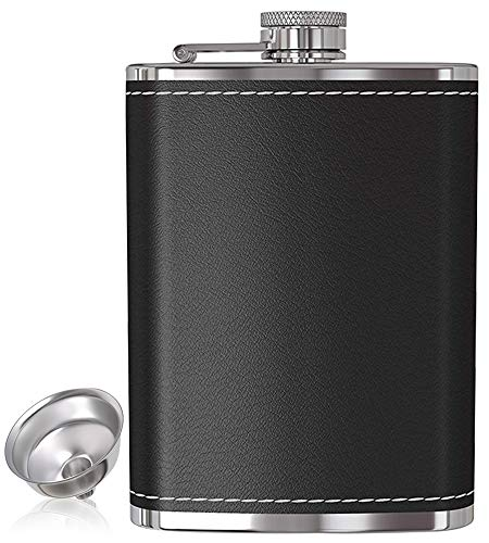 Flask for Liquor and Funnel - 8 Oz Leak Proof 18/8 Stainless...
