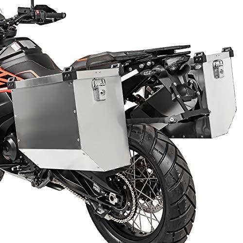 Alu Koffer Set Kompatibel für KTM 790 Adventure/R 19-21 Atlas 32l mit Kofferträger
