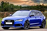 Zopix Premium Poster Audi Rs6 Auto Blau Sportwagen
