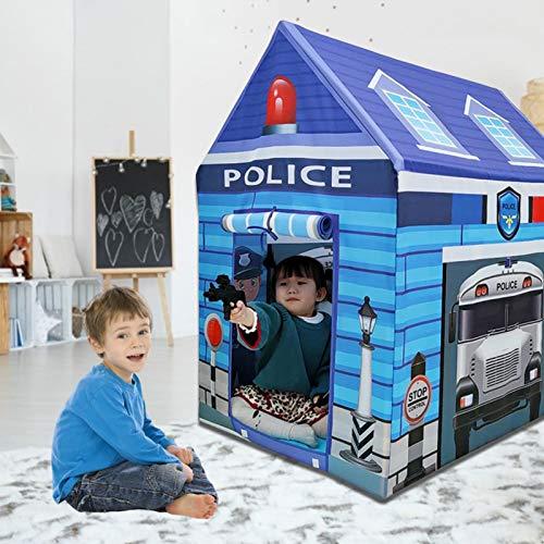 Magent Kinderspielzelt/Indoor Pielzelt Spielhaus für Kinderzelt, Kinderzelt Spielhaus Safe Nicht Verblassend Innen Polizeihaus Spielzeug für Kinder Jungen Mädchen