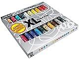 Pébéo – Huile Fine XL Étui 20 Tubes de 20 ML Assortis et Pinceau – Peinture Huile Coffret et Pinceau – Kit Peinture Huile Multisurface – 20 tubes de 20 ml