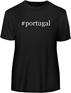 #Portugal - Hashtag Men's Funny Soft Adult Tee T-Shirt