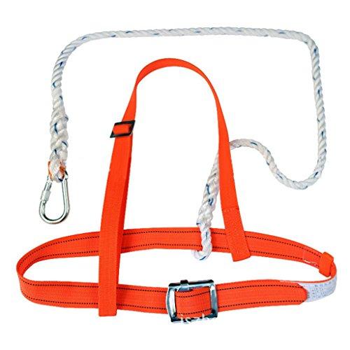Arancione Impalcatura Imbracatura Kit Anticaduta Dispositivi Di Protezione Cordino Arrampicata