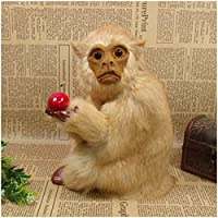 シミュレーションスクワットモンキーモデル-モンキーフィギュアおもちゃ-クリスマスデコレーション小道具のシミュレートされた動物モデル誕生日プレゼント、ホームDeocr、キッズ教育学習、