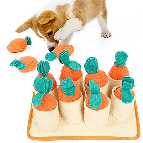Yoommd Alfombrilla para mascotas con forma de zanahoria, juguete inteligente para perros, juguete de inteligencia para perros, gatos y perros