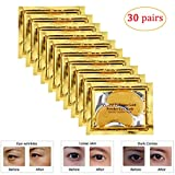 Joynest 30 Pairs Crystal Eye Mask Under Eye Mask 24K Gold Gel Collagen Eye Pad for Moisturizing & Reducing Dark Circles...