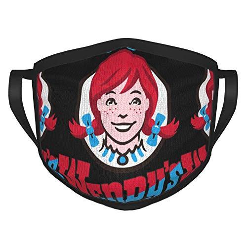 RDXX Wendys Logo Lightweight Adult Fashion Playboi Carti Máscara Facial cómoda, Reutilizable, Adecuada para Hombres y Mujeres