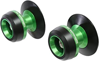 MC Motoparts Twall 8MM CNC Swingarm Spools For Kawasaki NINJA 650 R ABS 2017-2018 2019 17 18 19 (Green)