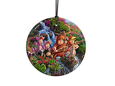 Trend Setters Disney – Peter Pan – Lost Boys – Starfire Prints Hanging Glass – Light Catching Hanging Décor – Ideal for Gifting and Collecting