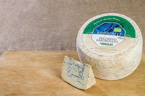 4 kg - Pecorino erborinato, biologico. Organic blue pecorino cheese made by Argiolas Formaggi. With penicillium roqueforti.