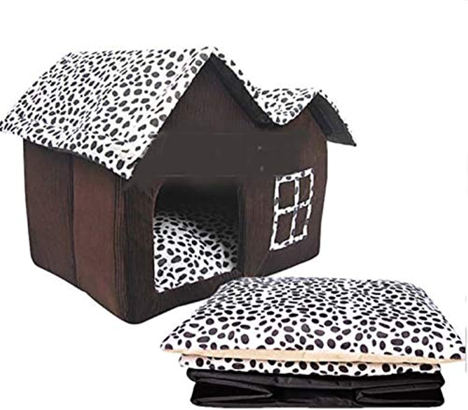 FidgetGear Indoor Pet Dog House Cage Bed Kennel Puppy Cat Cabin Cushion Mat Washable Pad