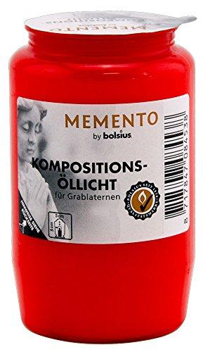 Bolsius Kompositionslicht Nr. 3, rot - 20 Stück