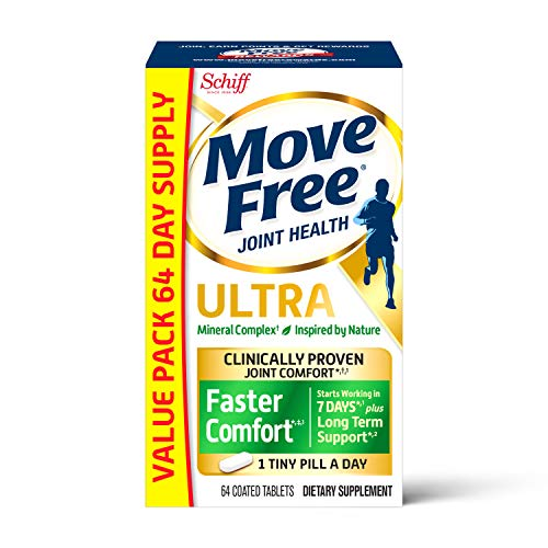 Calcium & Calcium Fructoborate Based Ultra Faster Comfort Tablets Value Pack, Move Free (64 Count in...
