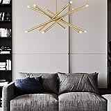 Nologo LFFSXSM Comedor Habitación Habitación Sala de Arte de la lámpara Moderna y Simple, Doce Corto
