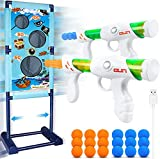 M AOMEIQI Kids Toys for 5 6 7 8 9 10+ Years Old Boys Shooting Game Toy Indoor Outdoor Games for Kids with Moving Shooting Target & 2 Blasters Guns & 18 Foam Balls - Compatible with Nerf Toy Guns