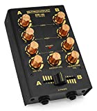 Pronomic DX-10BK DJ Mixer (Kompakter 2-Kanal-DJ-Mixer mit zwei Line-Eingängen und 2-Band Equalizer, Mikrofoneingang mit separatem Laustärkeregler, Master-, Record- und Kopfhörer-Ausgang)...