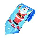 UJUNAOR Weihnachten Männer Krawatte Santa Feiertagsbindung Druck Kreatives Fliege(E,One Size)