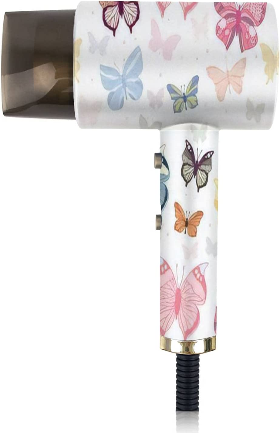 Ionic Hair Don't miss the campaign 70% OFF Outlet Dryer Pattern with Colorful Butterflies Ligh Portable