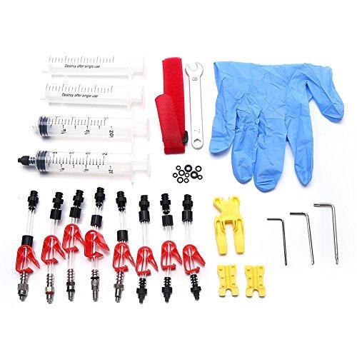 Dilwe Bremsen-Reinigungsset Bremse Hydraulische Scheibenbremse für Fahrräder mit Mineralöl, Werkzeug für TeKTRO MAGURA Louise Marta