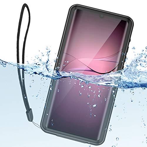 ShellBox Huawei P30 Pro Hülle,IP68 Wasserdicht Handy Hülle 360 Grad Fallschutz Stoßfest Staubdicht Robuster Stoßfänger Dünn Wasserfest Schutzhülle für Huawei P30 Pro (Schwarz 6.47
