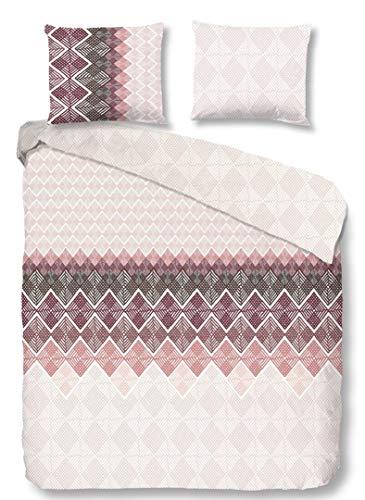 Good Morning! Abigale 2109.70.03 - Juego de cama (3 piezas, funda nórdica de 240 x 200 cm y funda de almohada de 60 x 70 cm), color burdeos