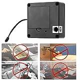 Cerradura de inducción antirrobo negra Cerradura de cajón de seguridad conveniente Cerradura de tarjeta Cerradura de gabinete para oficina para el hogar