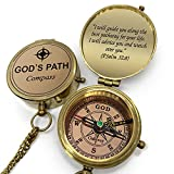 OakiWay Religious Gifts - God's Path Compass - Christian Gifts for Men, Catholic Gifts, Baptism Gifts for Boys, Gifts for Teen Boys, Graduation Gifts, Inspirational Gifts for Woman, Sentimental Gifts