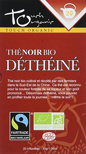 Touch organic Thé Noir Déthéiné Bio 20 Sachets 30 g