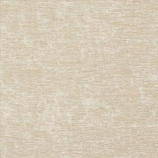Designer Fabrics K0150R 54 in. Wide Cream Solid Shiny Woven Velvet Upholstery Fabric