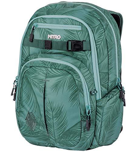 """Nitro Chase Sac à dos d'écolier avec organiseur, sac d'écolier avec compartiment pour ordinateur portable 17"""", Coco, 35 l"""
