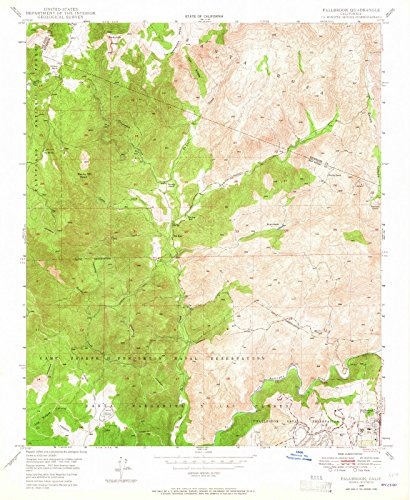 California Maps - 1948 Fallbrook, CA - USGS Historical Topographic Wall Art - 44in x 55in