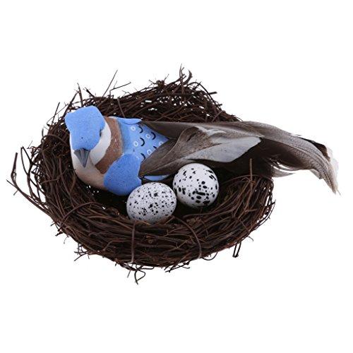 Künstlicher Schaum Vogel mit Nest Naturdeko Set