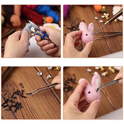 356 Pcs Needle Felting Kit, Needle Felting Tools with 40 Colors Wool Roving, Felting Needles, Felting Mat, Instruction and Other Supplies for Wool Felt Tools Beginners