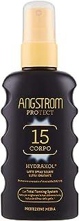 Angstrom Protezione Corpo Latte Spray Solare Ultra Idratante, con Filtri Solari UVA/UVB, Total Tanning System per Migliora...