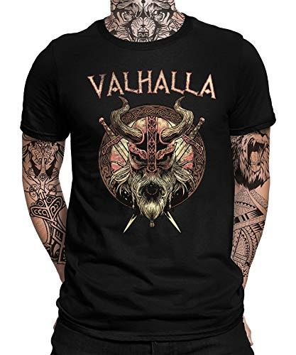 Viking Valhalla Odin Thor Nordmann Wolf - Camiseta de manga corta para homb...